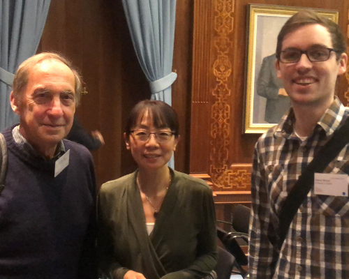 John White, scientist from MRC Cambridge, left, is joined by the LTRI's Dr. Mei Zhen and Dr. Daniel Witvliet, a former PhD student